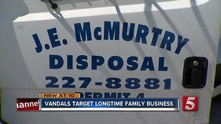 Vandals Target Trucks At Longtime Family-Owned Disposal Company - Video