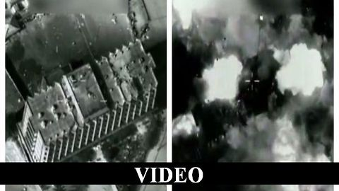 B-52 Bombs ISIS Controlled Building In Mosul, Iraq