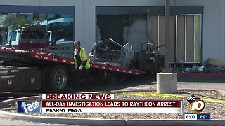 Driver arrested after car crashes into defense contractor building in Kearny Mesa