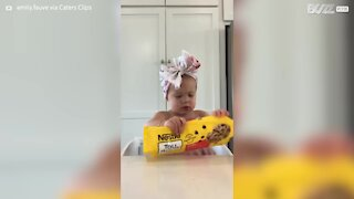 Toddler bakes her own cookies 8