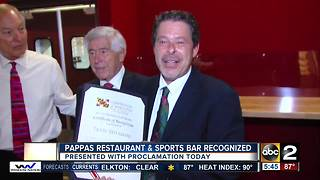 Pappas Restaurant & Sports Bar getting recognized after 55 years in the 'biz' - Video