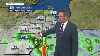 Evening storm chance decreases