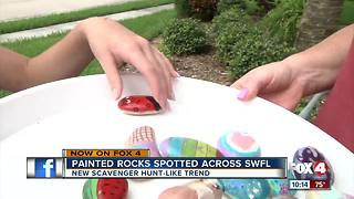 Colorful painted rocks sparks new treasure-hunt trend - Video
