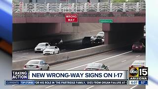 ADOT installs overhead signs to alert wrong-way drivers - Video