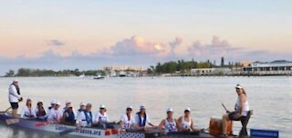 Breast cancer survivors paddle for the cure