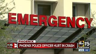 Phoenix officer remains in critical condition following serious crash - Video