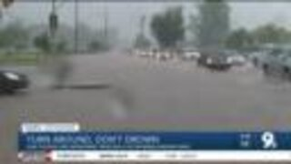 Running water during monsoon presents dangers for all involved