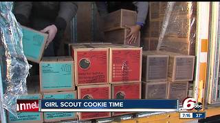 Girl Scout cookies arrive in central Indiana - Video