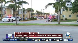 Man arrested in Stonybrook apartment fire in Riviera Beach - Video