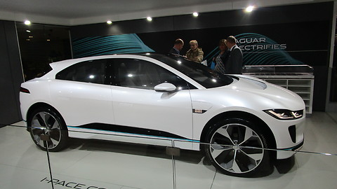 Jaguar I-pace Concept car at autosalon Brussel 2018