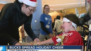 Bucks bring Christmas cheer to Children's Hospital - Video