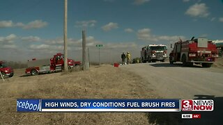 High winds, dry conditions fuel brush fires