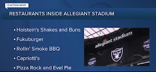 Restaurants inside Allegiant Stadium