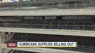 Florida residents stock up on supplies as Cat 4 Hurricane Irma strengthens - Video