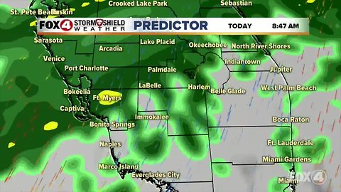 Wet conditions in SWFL on Tuesday