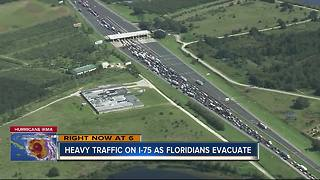 Heavy traffic on I-75 as Floridians evacuate - Video