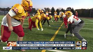 Calvert Hall seniors going for a sweep in the 98th Turkey Bowl - Video
