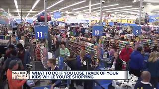Here's what to do if you lose track of your kids while shopping