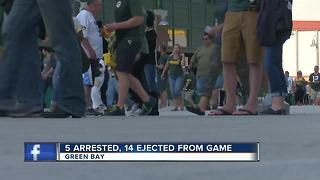 Five arrested at Packers' season opener - Video