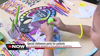 Special Halloween party for patients at UH Rainbow Babies and Children's Hospital - Video