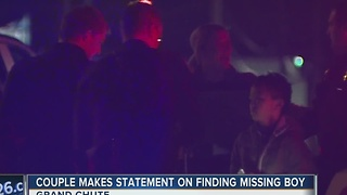 Couple finds missing boy