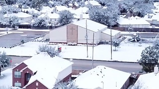 Drone Footage Shows Houston Blanketed in Snow - Video