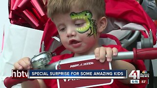 Special needs kids receive adaptive bicycles
