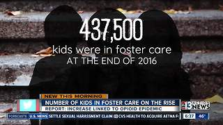 Number of kids in foster car on the rise - Video