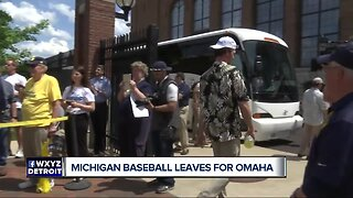 Fans gather to send Michigan Baseball off to College World Series