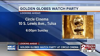 Golden Globes watch party at Circle Cinema