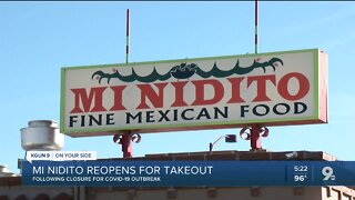 Tucson favorite Mi Nidito reopens after employees test positive for Covid-19