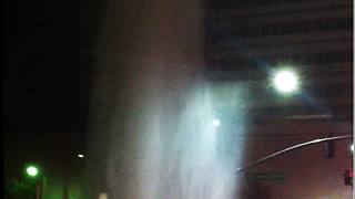 Broken water main causes giant geyser in Beverly Hills  - Video