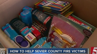 Cash Donations Best Way to Help Sevier County Fire Victims - Video