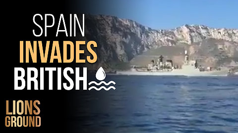 Spanish warship illegally invades British waters while blasting national anthem