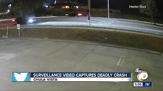 Surveillance video captures deadly crash