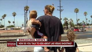How do you talk to kids about Las Vegas shooting? - Video