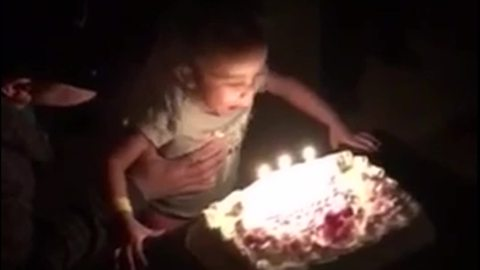 "Tot Girl Says ""Achoo"" Instead Of Blowing Out The Candles On Her Birthday Cake"