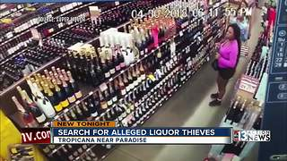 Women stealing liquor from valley stores - Video