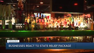 Businesses react to state relief package