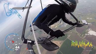 Daring dad reveals 'superman' moment he flew hang glider over raf bomber - Video