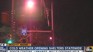Shelters opening due to cold weather blast - Video