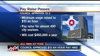 Indy City-County Council votes to increase minimum wage for county, city employees - Video