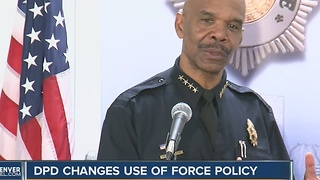 Denver Police Department changes use of force policy - Video
