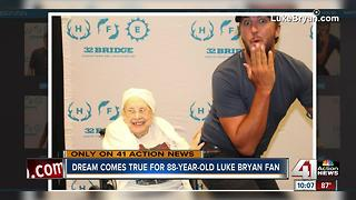 Metro woman battling terminal illness meets Luke Bryan - Video
