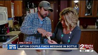 Afton couple finds message in a bottle in Grand Lake, now trying to find who it belonged to - Video
