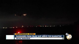 Passengers from cruise ship arrive for quarantine