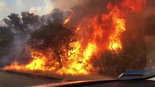 Video shows flames of the Stagecoach Fire burning near Havilah