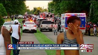 Two shot, killed at North Tulsa softball game - Video
