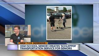 Metro Detroit high school senior creates 'Schlepper' transportation service for seniors - Video
