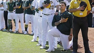 Bruce Maxwell Becomes First MLB Player To Kneel During National Anthem - Video